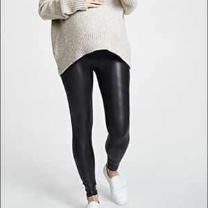 NEW SPANX Maternity Faux Leather Leggings